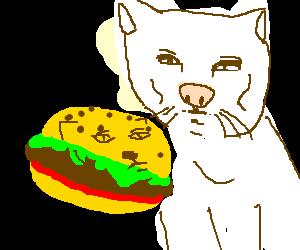 A serious burger for a serious man