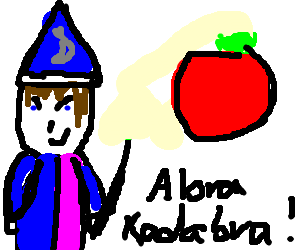 Magician turns his assistant in tomato