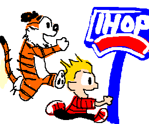 Calvin and Hobbes go to IHOP