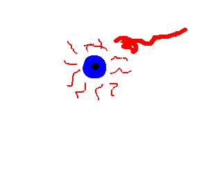 weird disembodied eyeball