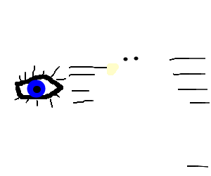The eye ran away from the ghost