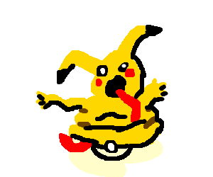 Deformed Pikachu won't fit in the Poke Ball