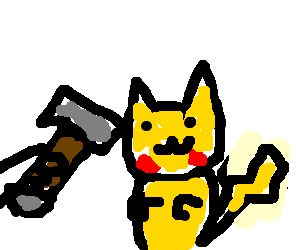 Pikachu getting hammered