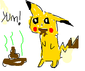 pikachu is a coprophile