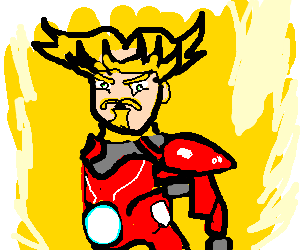 Iron Man goes super  saiyan