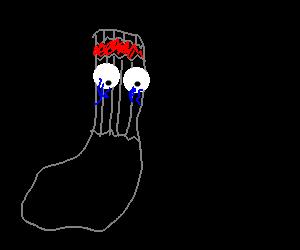 Crying sock