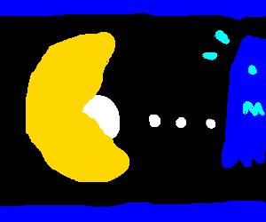 Pacman eats a huge pellet