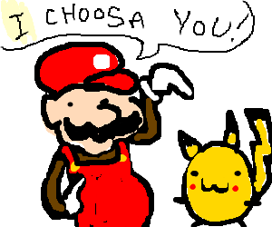 super mario choose pikachu