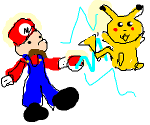 "Mario ""choosa"" you pikachu"