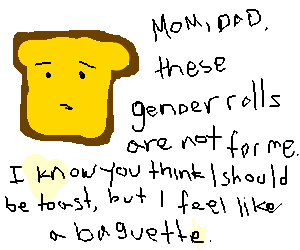 Piece of bread coming out
