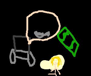 Stephen Hawking offering hooker 2 dollars.