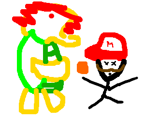 Bowser kills Mario with a Tori Spelling Coin