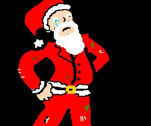 Depressed metrosexual hobo Santa Claus