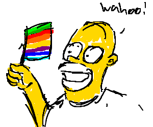 Homer supports gay rights wahoo