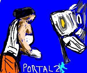 Chell faces off against GLADoS