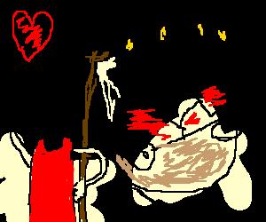 satan love's his ferrari cake