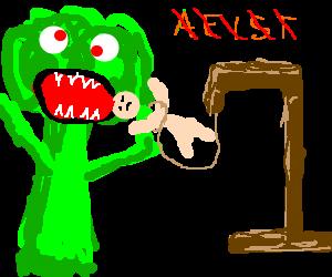 Brocolli eating man disputes hangman loss