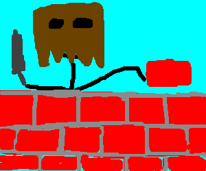 Bag man builds a wall