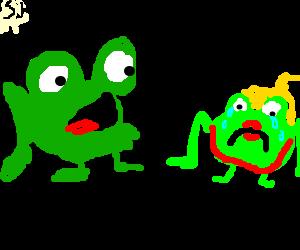 Frog justifying rape.