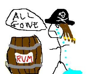 But why is the rum gone?!