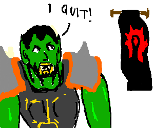 Thrall quits the Horde