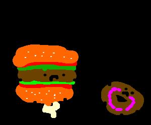living Hamburger disrespects donut