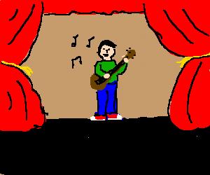 Guy Sings and Plays Guitar