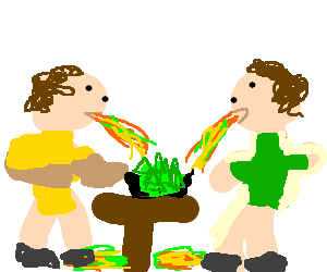 green nachos make everyone sick