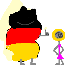 Germany gives the Euro the thumbs up