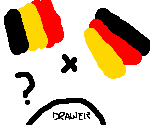 Belgian and German flags confound Drawceptians
