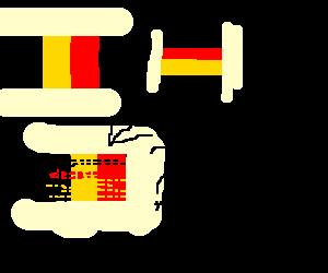 Belgium multiplied by Germany?