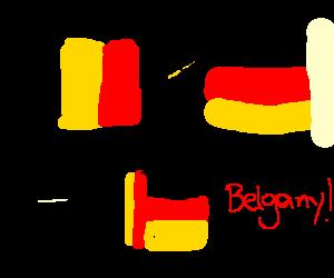 Belgium times Germany equals Belgany