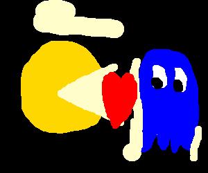 Pacman + Blue ghost = True Love