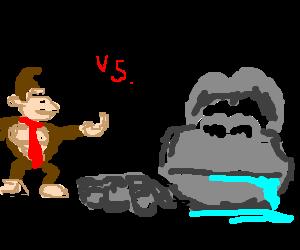Donkey Kong Vs Drooling King Kong