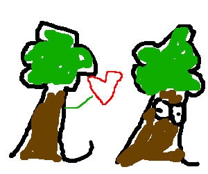 Tree gives heart to lady tree
