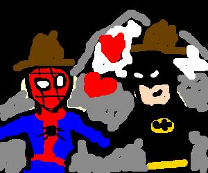 Spiderman and Batman like Brokeback Mountain