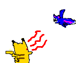 Pikachu uses Growl vs Zubat