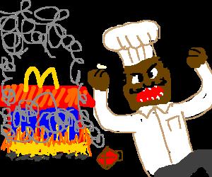 Criminally insane chef burns down McDonalds
