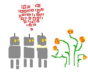 Robots love flowers!