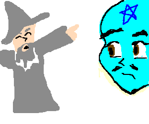 gandalf tells bluestarface man he shall not pass