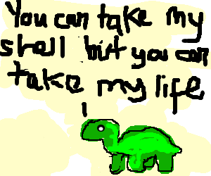 Shell or not, the Turtle feared no amphibian.