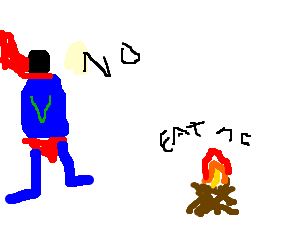 vegetarian superman refuses to eat campfire