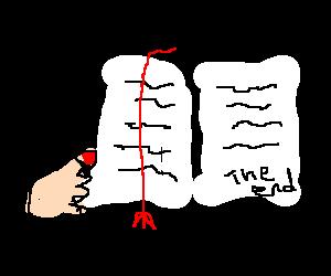 Posh hand reads a book