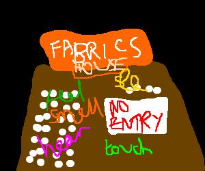 The forbidden house of sense fabric