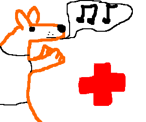 Fugly Fox-furry sings for the red cross