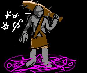 blind ogre speaks magic