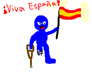 Blue amputee fights for the honor of Spain.