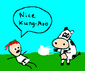 Ryu comments on your cow-style kung-fu.