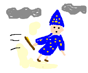 Wizard takes flight