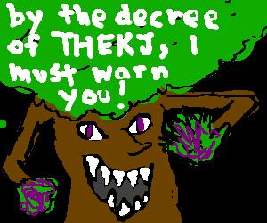purple tree warns us for THEKJ